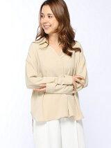actuel/(W)ストレッチローン抜け衿シャツ