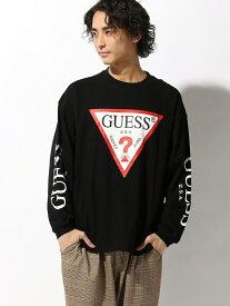 WEGO (M)GUESS別注プリントビッグロンT ウィゴー カットソー Tシャツ ブラック ホワイト【送料無料】