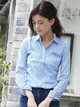 (W)ストライプシャツ