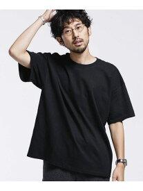 【SALE/50%OFF】nano・universe GILDANビッグシルエットリメイクTシャツ/半袖<一部WEB限定カラー> ナノユニバース カットソー Tシャツ ブラック ホワイト ピンク グリーン オレンジ ブルー