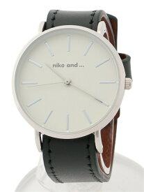 niko and... (W)Lブレスウォッチ ニコアンド ファッショングッズ 腕時計 ブラック ブラウン ベージュ