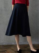 KF P/ツイード バックタックフレア スカート