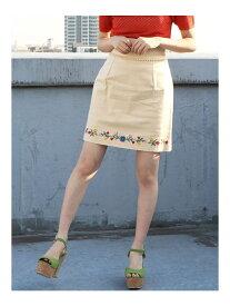 【SALE/85%OFF】dazzlin フラワーヘム刺繍ミニスカート ダズリン スカート フレアスカート ホワイト オレンジ グリーン ネイビー