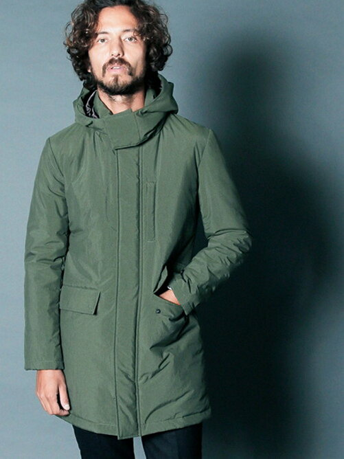 NYLON THINSULATE STAND HOOD COAT
