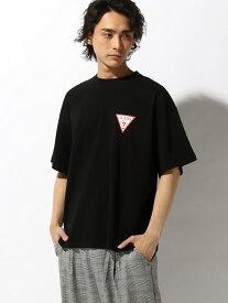 【SALE/35%OFF】WEGO (M)GUESS別注バックロゴビッグT ウィゴー カットソー Tシャツ ブラック ベージュ ホワイト
