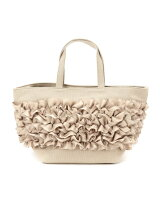 CANVAS*FRILL TOTE(S) BEIGE