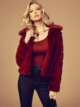 (W)DESSIE FAUX-FUR JACKET
