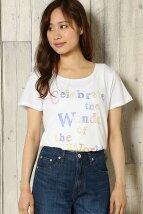 カラフルロゴプリントTシャツ