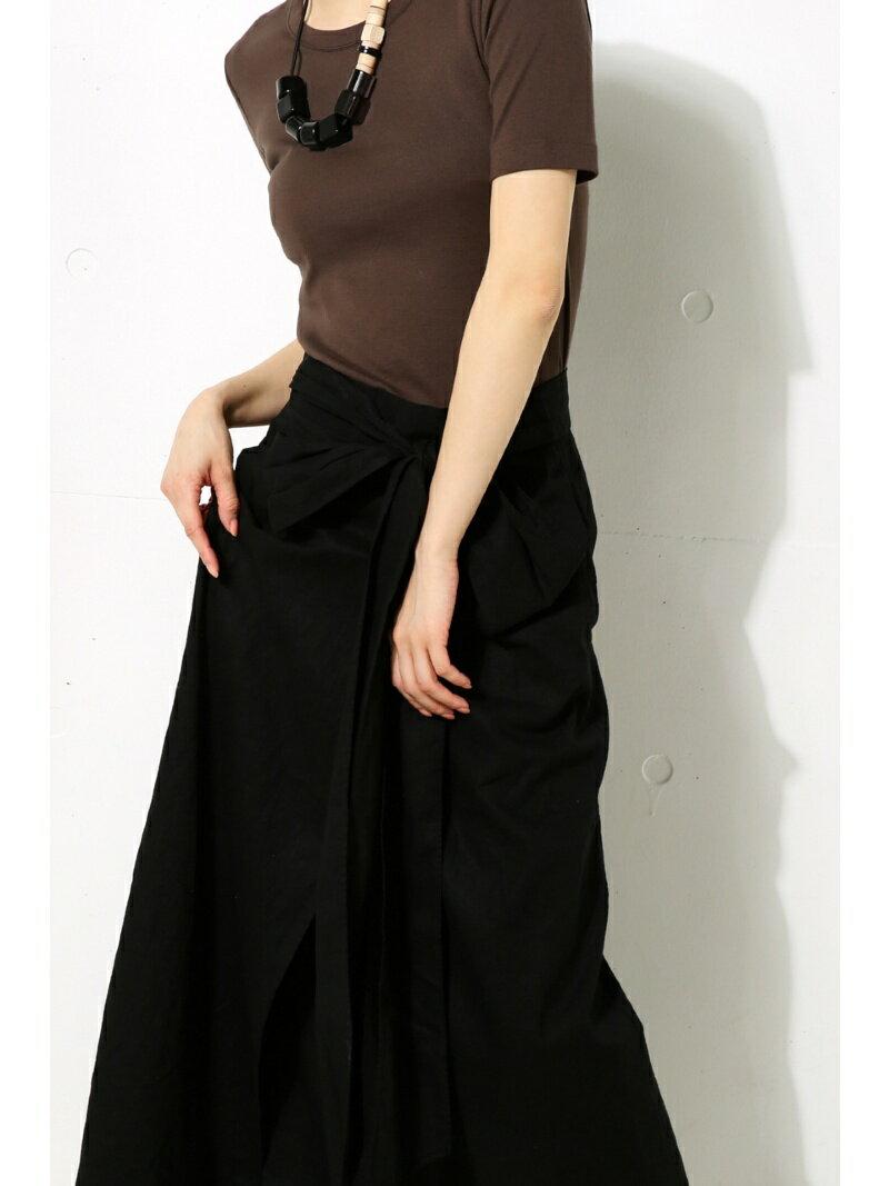 【SALE/50%OFF】AZUL by moussy FRONTリボンロングスカート アズールバイマウジー スカート【RBA_S】【RBA_E】