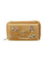 ベロア花刺繍財布SD