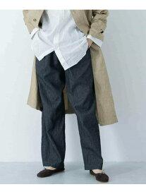 かぐれ 【予約】綿麻デニムイージーパンツ カグレ パンツ/ジーンズ パンツその他 ブルー ホワイト【送料無料】