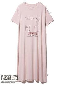 gelato pique 【PEANUTS】ワンポイントドレス ジェラートピケ インナー/ナイトウェア ルームウェア/その他 ピンク【送料無料】