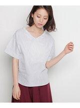 ブロード抜き衿シャツ