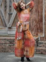 INDIA Bohemian patchworkワイドパンツ