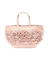 CANVAS*FRILL TOTE(S) PINK