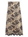 【SALE/50%OFF】Lily Brown バイカラーフラワーレーススカート リリーブラウン スカート ロングスカート ホワイト レ…