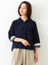 BEAMS BOY / セーラー カラー 7分袖シャツ  ビームスボーイ