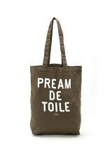 《Pream de toile》ロゴプリントミニトートバック