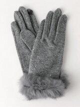 JC ストーン/ファー グローブ / 手袋 / タッチパネル対応 / プレゼント / ギフト / 贈り物 / 小物 / スマホ対応