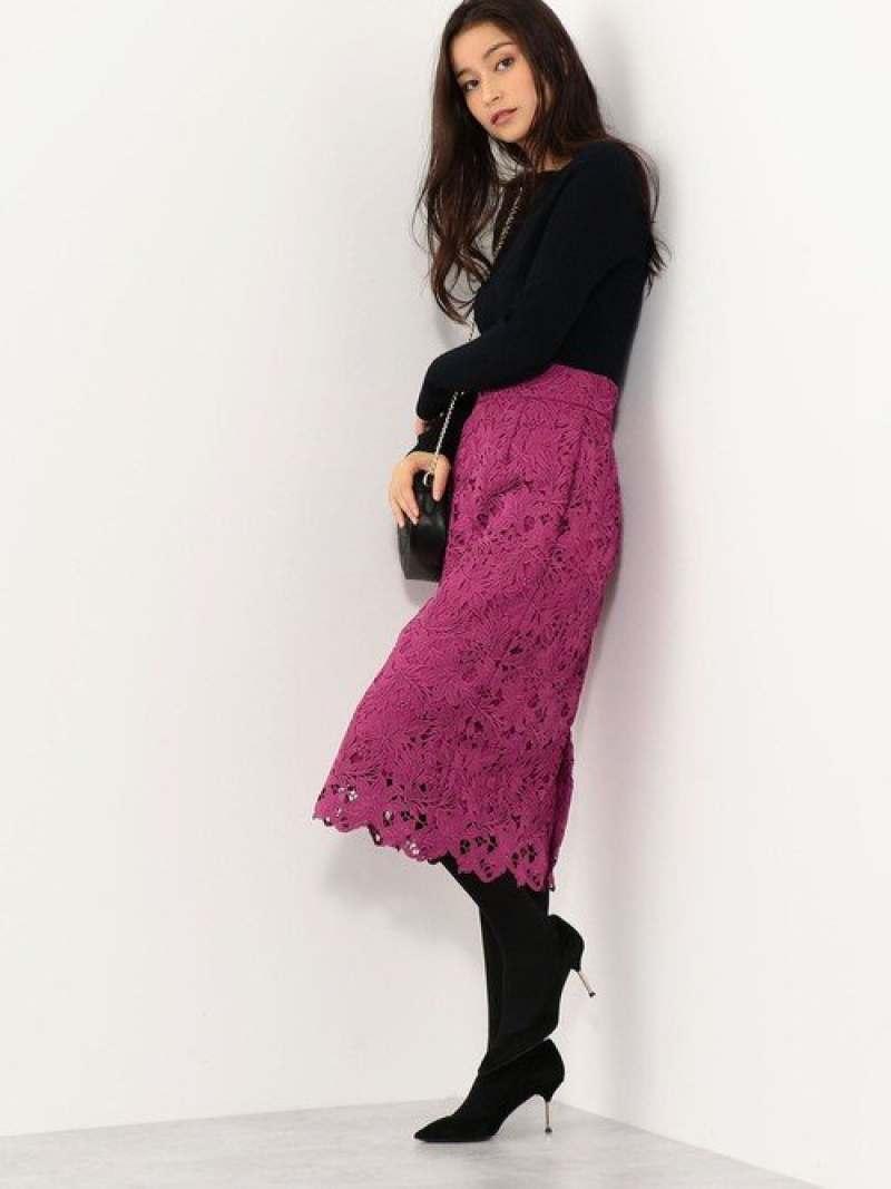 Jewel Changes CS PEケミカルレース Iラインスカート / レーススカート ジュエルチェンジズ スカート【送料無料】