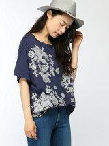 ローズブーケレース刺繍Tシャツ