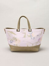 rienda/OLD ROSE FLOWER PRINT TOTE S