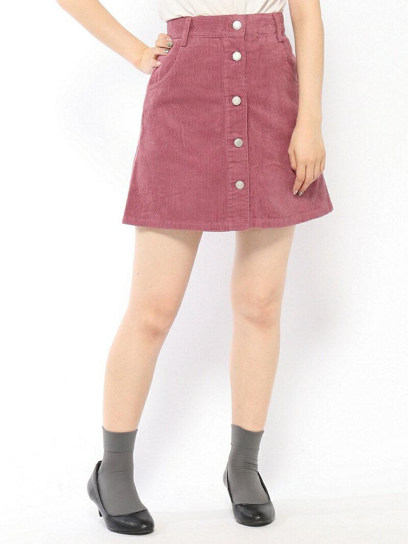 BROWNY STANDARD BROWNY STANDARD/(L)コーデュロイフロントボタンミニスカート ウィゴー スカート