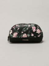 rienda/OLD ROSE FLOWER PRINT POUCH