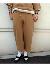 FAKE MOUTON WIDE PANTS