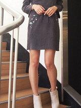 [sw]ナデシコ刺繍ニットスカート