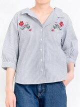 フラワー刺繍アソートシャツ