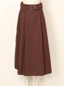 【SALE/30%OFF】Mila Owen レイヤード風プリーツSK ミラオーウェン スカート スカートその他 ブラウン カーキ ネイビー【送料無料】