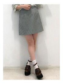 【SALE/83%OFF】dazzlin ギンガムチェックミニ台形スカート ダズリン スカート フレアスカート ブラック オレンジ ブルー