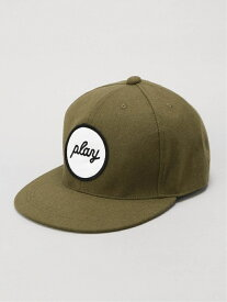 PLAYDESIGN (U)PLAY MELTON CAP プレイデザイン 帽子/ヘア小物 キャップ カーキ レッド【送料無料】