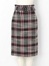 ハイウエストチェックタイトスカート
