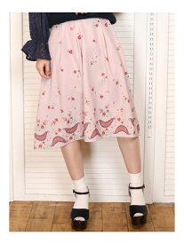 【SALE/87%OFF】dazzlin CHAPON×dazzlinフレアスカート ダズリン スカート フレアスカート ピンク ブルー