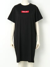 EMBROIDERED BAR S/S TEE DRESS