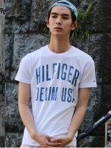 (M)Hilfiger Denim/コットン ロゴTシャツ