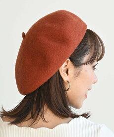 rps (W)ウールベレー帽 アールピーエス 帽子/ヘア小物 ベレー帽 オレンジ ブラウン グレー ベージュ パープル ネイビー ブラック レッド