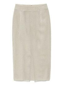 【SALE/70%OFF】styling/ フロッキーラッセルスカート スタイリング スカート スカートその他 グレー ブラック【送料無料】