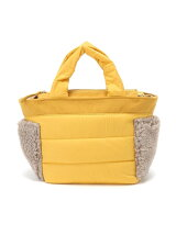 QUILTING*BOA POCKET TOTE(S) YELLOW