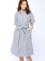 (W)Hilfiger Denim/ストライプシャツドレス
