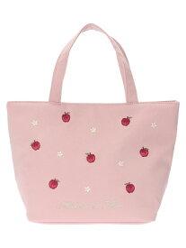 Maison de FLEUR リンゴトートバッグ メゾン ド フルール バッグ トートバッグ ピンク ネイビー【送料無料】