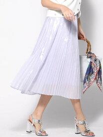【SALE/70%OFF】Viaggio Blu グロスプリントプリーツスカート ビアッジョブルー スカート スカートその他 パープル ホワイト【送料無料】