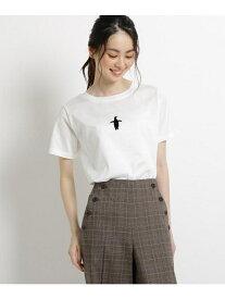 【SALE/50%OFF】Dessin 【洗えるLサイズ・Sサイズあり日本製】コットンワンポイントTシャツ デッサン カットソー Tシャツ ホワイト カーキ ベージュ ネイビー