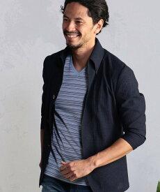 【SALE/50%OFF】MEN'S BIGI トリコット7スリーブジャケット メンズ ビギ カットソー Tシャツ ネイビー ブルー【送料無料】