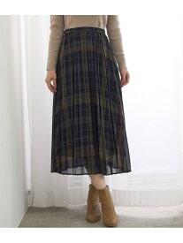 ROPE' PICNIC シアーチェックプリーツスカート ロペピクニック スカート スカートその他 グリーン ブラック ブラウン【送料無料】