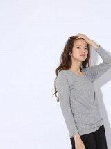 (W)オーガニック/9ブソデTシャツ
