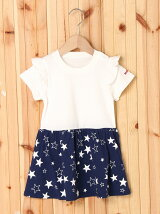 S/S RUFFLE DRESS STAR PRINT(12M~3T)