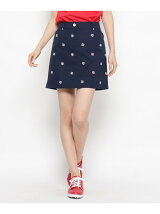 モノグラムロゴ刺繍スカート